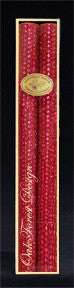 12 Inch Metallic Taper Candle Pair