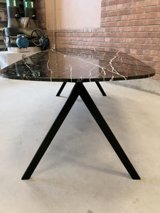 Botticino marble dining table
