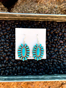 Navajo Cluster Dangle Earrings