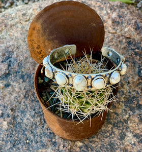 11 Stone Natural Stone Cuff - 2 Colors