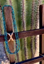 "Load image into Gallery viewer, 50"" Turquoise Rondelle Necklace"