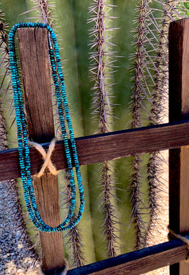 "50"" Turquoise Rondelle Necklace"