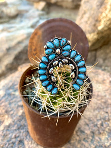 Adjustable Turquoise Naja Ring