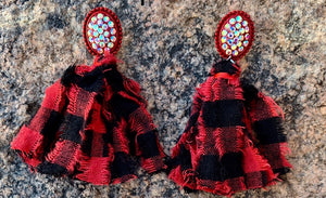 Buffalo Plaid Post Earrings