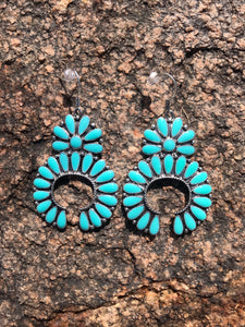 Squash Blossom Earrings - Turquoise