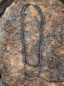 Red Navajo Pearl Necklace