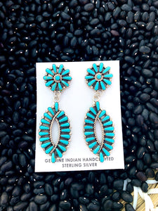 Turquoise Post Earrings by Tamara Benally