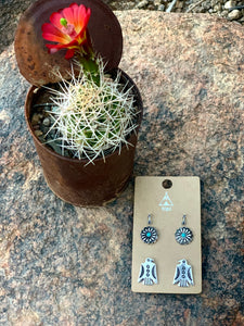 Small Thunderbird Earring Set