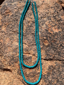 Double Strand Rondelle Necklace - 2 Colors