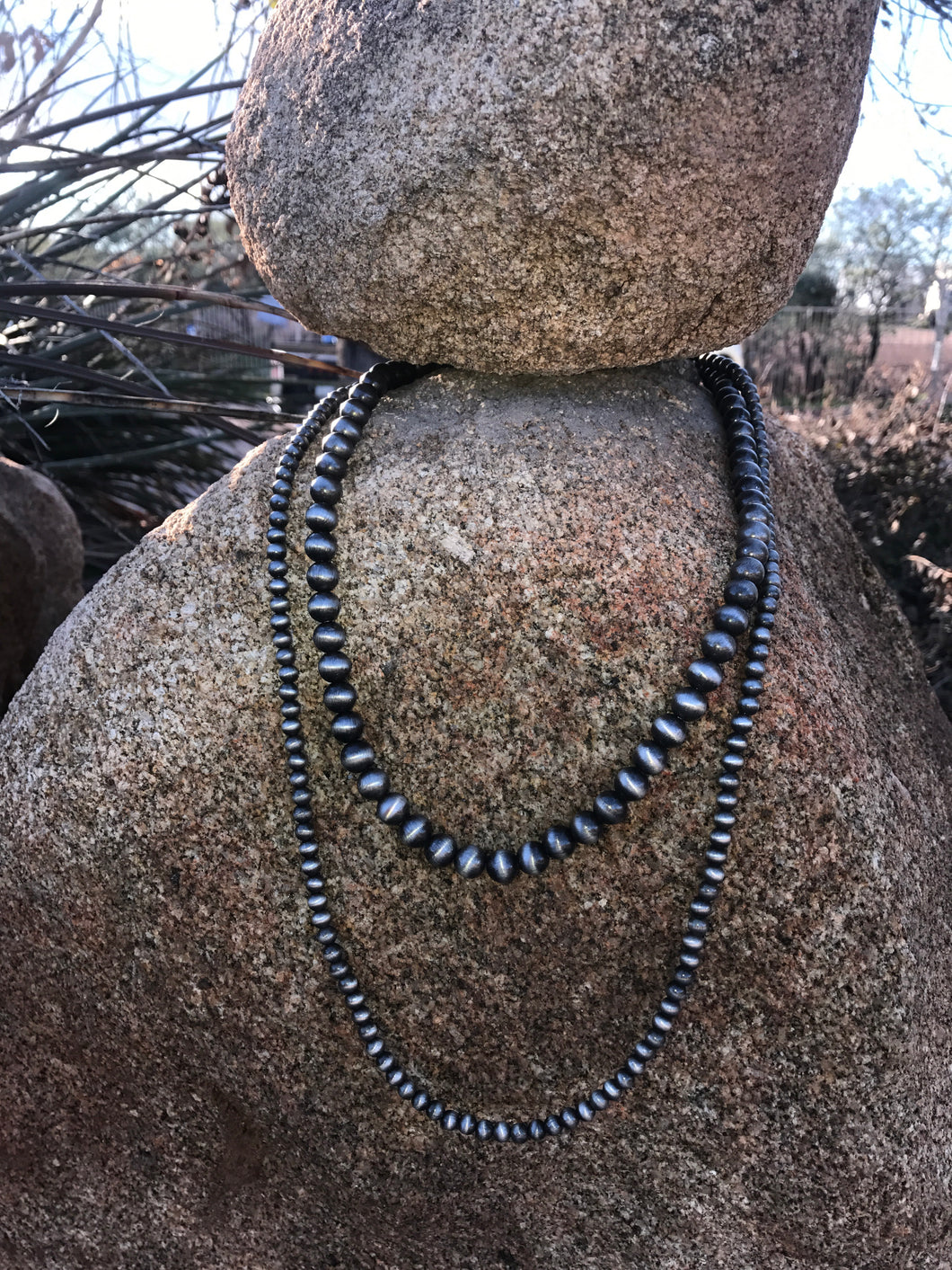 Double Strand Faux Navajo Pearl