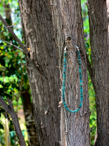 Navajo Larger Rondelle Turquoise Necklace - Style 2