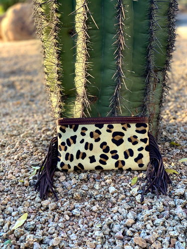 Small Cheetah Fringe Crossbody
