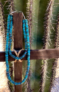 Navajo Double Strand Turquoise and Purple Spiny Necklace
