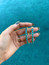 Load image into Gallery viewer, Turquoise Stone Hoops