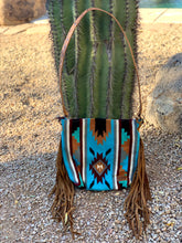 Load image into Gallery viewer, Multi Color Aztec Saddle Blanket Purse