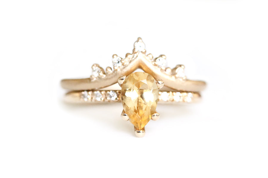 14K GOLDEN TOPAZ TRYST RING - OOAK
