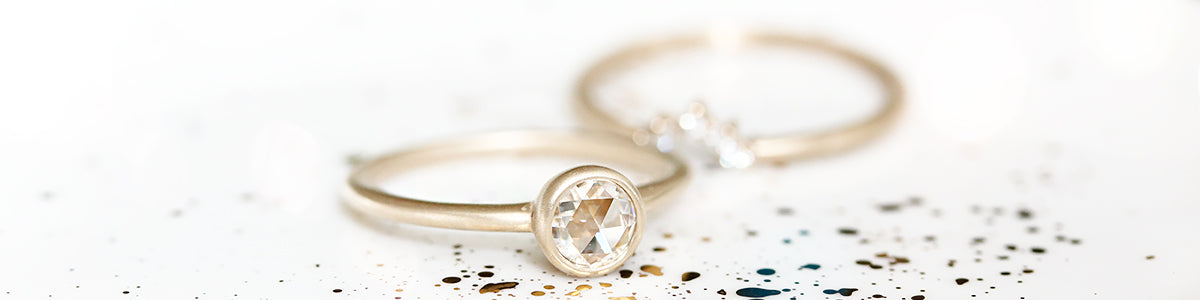 Moissanite Rings by Andrea Bonelli Jewelry