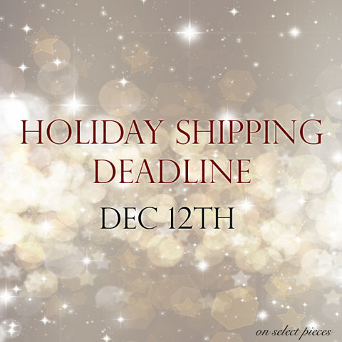 Holiday Shipping Deadline