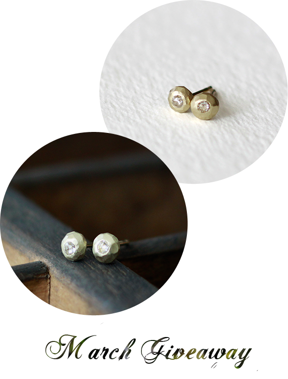 Giveaway} 14k Gold Studs