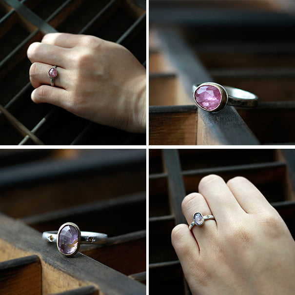rose cut sapphires ring by Andrea Bonelli