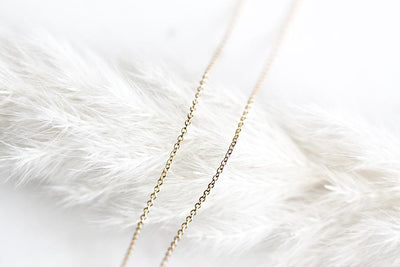 14k Adjustable Cable Chain 1mm Necklaces Andrea Bonelli
