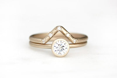 14k peak diamond ring | Andrea Bonelli Jewelry