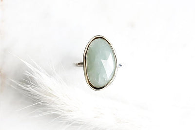 14k + silver aquamarine ring Gemstone Rings Andrea Bonelli Jewelry