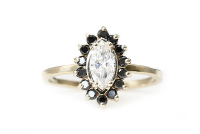 Brea Diamond Ring Sold Andrea Bonelli Moissanite