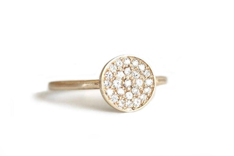 14k moissanite cluster ring - Andrea Bonelli Jewelry