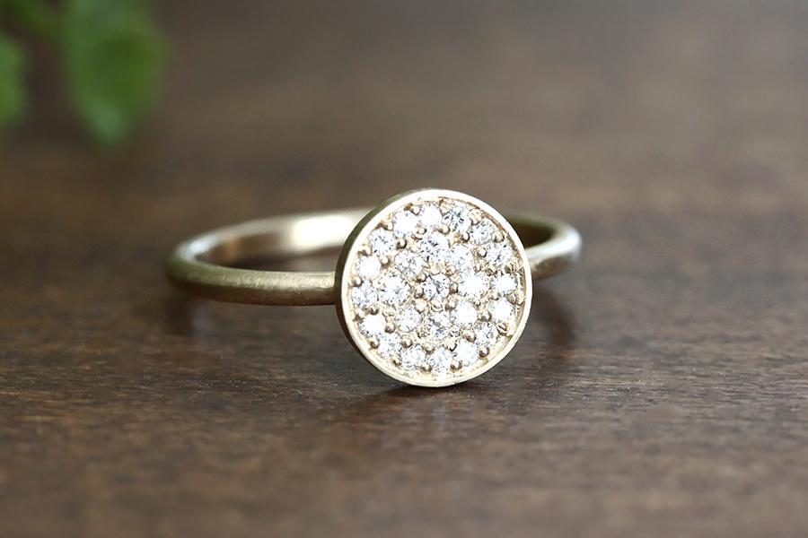 14k diamond cluster ring - Andrea Bonelli Jewelry