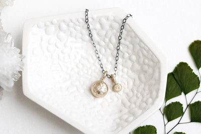 gold pebble white diamond necklace Necklaces Andrea Bonelli