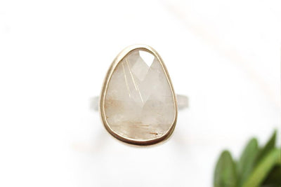 rutilated quartz ring Sold Andrea Bonelli