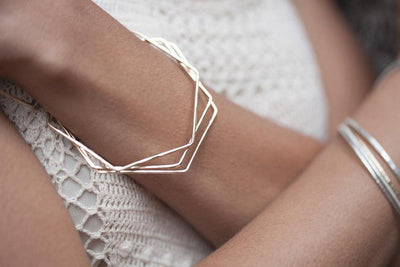 hexagon bangle Bracelets Andrea Bonelli
