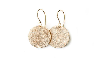 lunar earrings Earrings Andrea Bonelli Jewelry 14k Yellow Gold 3/4""