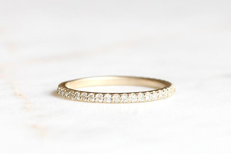 14k moissanite band - Andrea Bonelli Jewelry