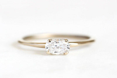 Custom Order 14k oval 1.3ct moissanite ring Custom Order Andrea Bonelli