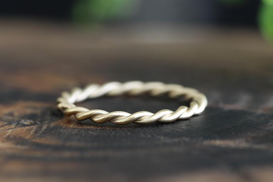 14k twist ring - Andrea Bonelli Jewelry