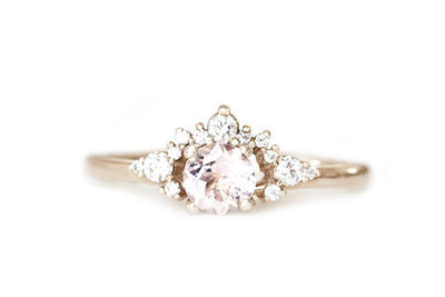 scarlett morganite diamond ring Gemstone Rings Andrea Bonelli 14k Rose Gold