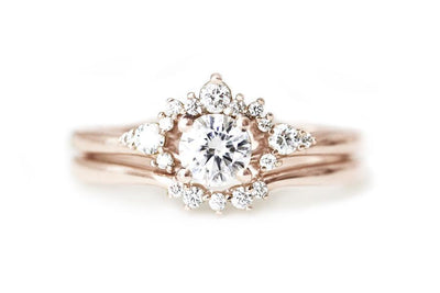 14k GIA scarlett diamond ring Andrea Bonelli 14k Rose Gold