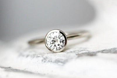 hera moissanite ring .50ct Moissanite Rings Andrea Bonelli