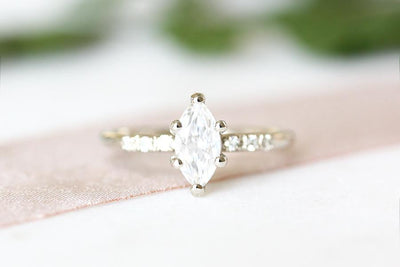 tryst marquise moissanite ring Sold Andrea Bonelli