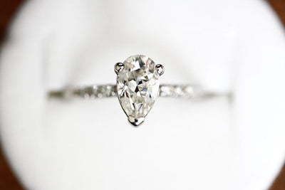 tryst pear moissanite ring Moissanite Rings Andrea Bonelli Jewelry