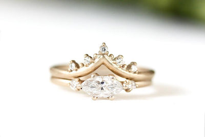 crown creste moissanite ring Moissanite Rings Andrea Bonelli
