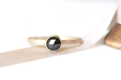 black rose cut diamond ring Sold Andrea Bonelli Jewelry