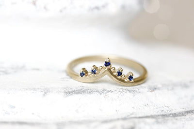 crown creste sapphire ring Gemstone Rings Andrea Bonelli