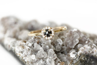 black diamond halo ring Diamond Rings Andrea Bonelli
