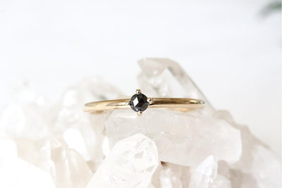 petit lola black rose cut diamond ring Diamond Rings Andrea Bonelli