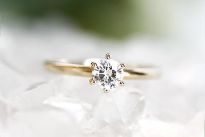 claire moissanite ring Moissanite Rings Andrea Bonelli