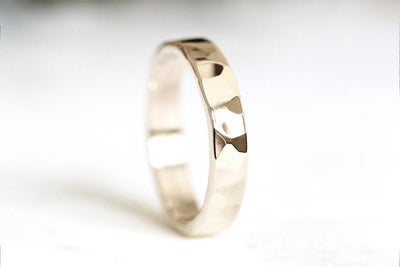 14k hammered band | Andrea Bonelli Jewelry