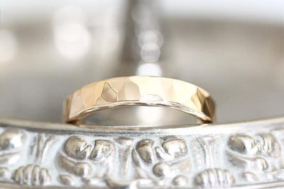 14k hammered band Andrea Bonelli